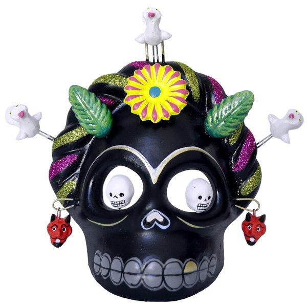 Skull Maske Frida Schwarz