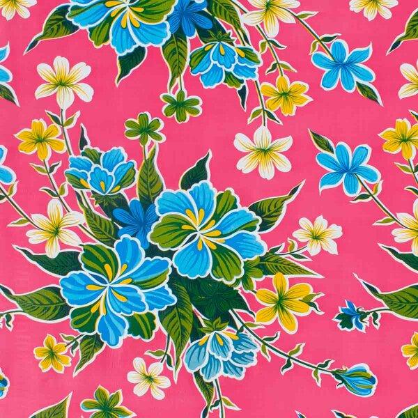 Wachstuch Hibiskus Pink