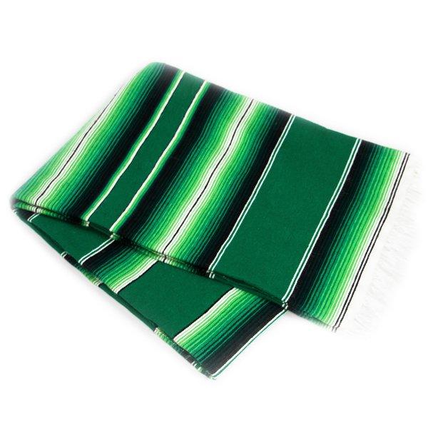 Sarape Green-White