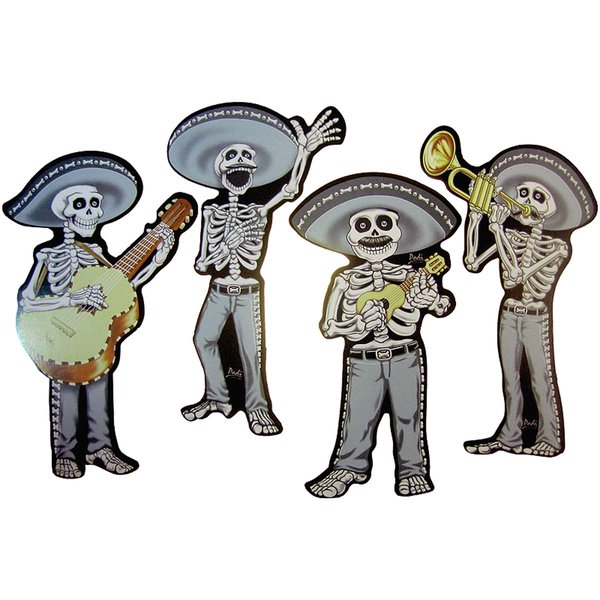 Skeleton Mariachi Cutouts