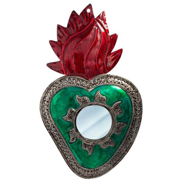 Heart Mirror Green