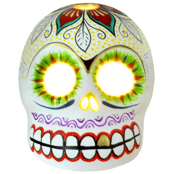 Sugar Skull Windlicht