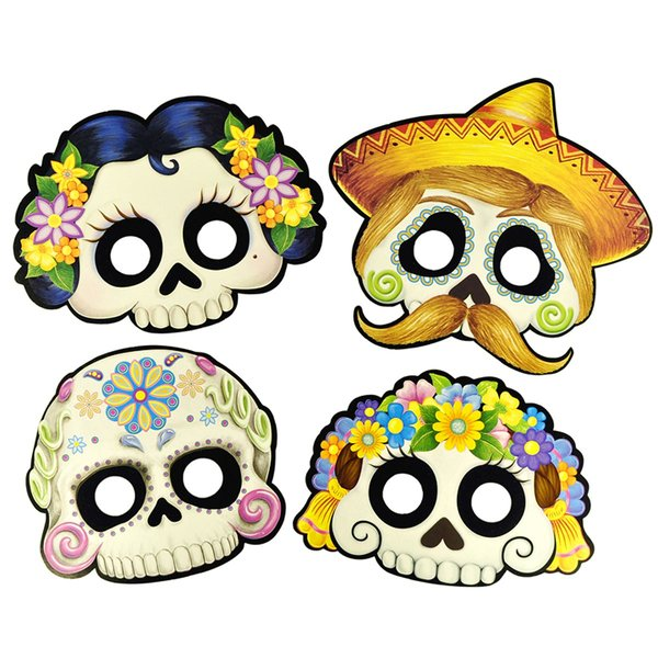 Sugarskull Pappmasken Set