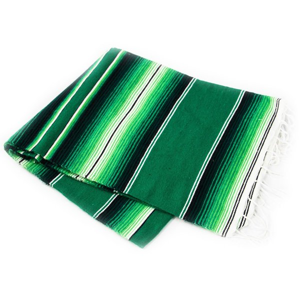 Serape Green-White