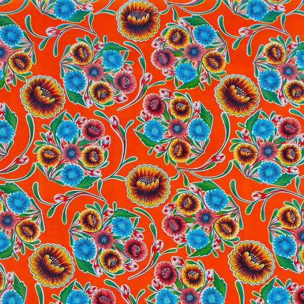 Wachstuch Floral Orange