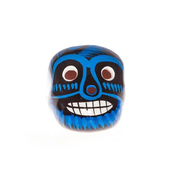 Blue Ceramic Skull