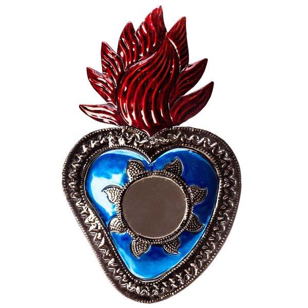 Herzspiegel Blau