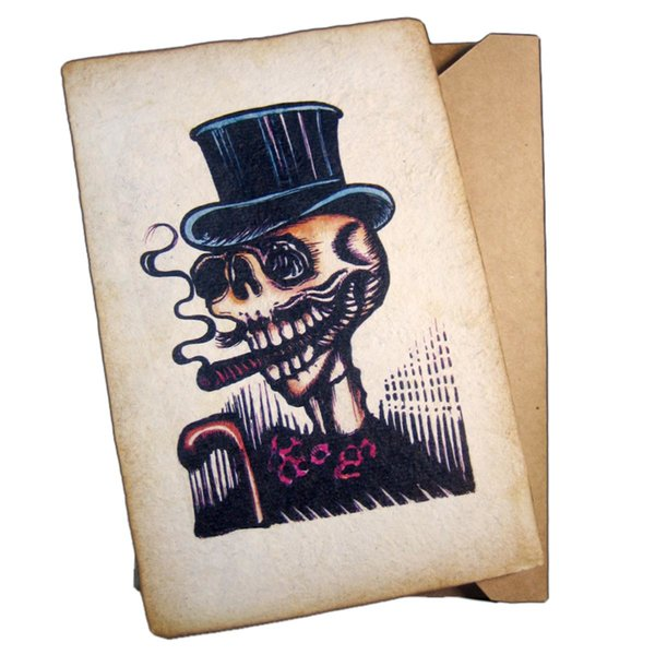 Mr. Calavera Greeting Card