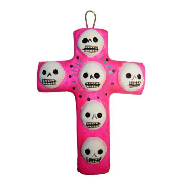 Calavera Kreuz Pink