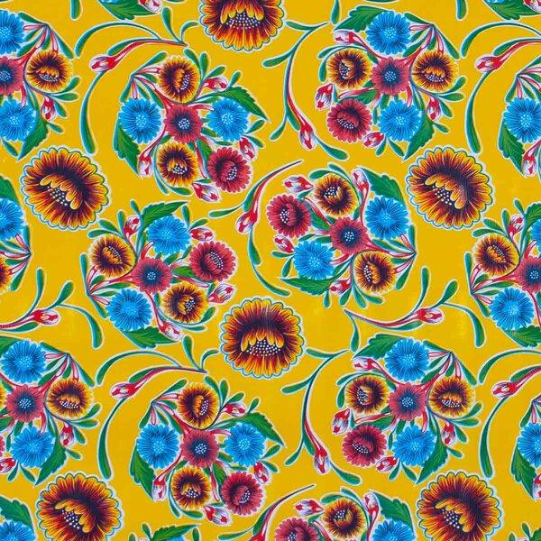 Wachstuch Floral Gelb