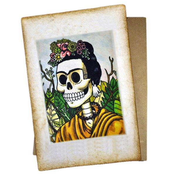 Frida Calavera Postkarte