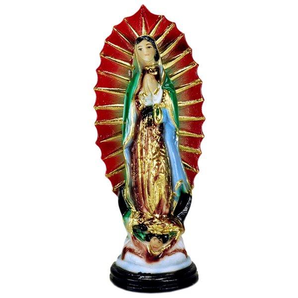 Guadalupe Statuette Red