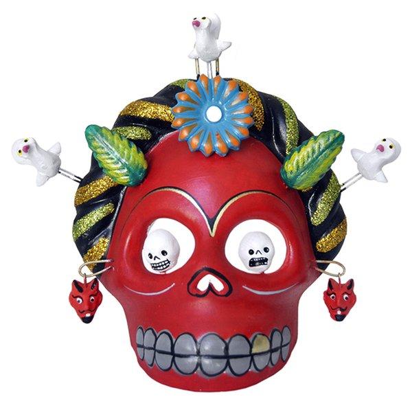 Skull Maske Frida Rot