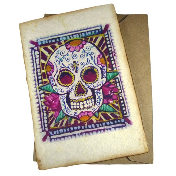 Sugarskull Greeting Card