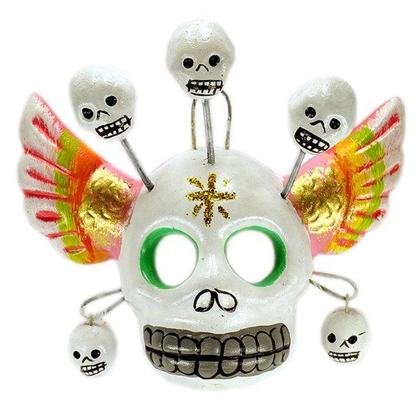 Totenkopf Maske Flügel